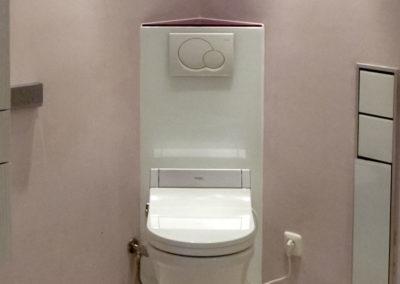WC-Verkleidung Eckmontage