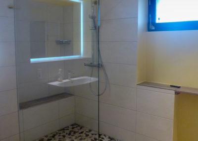 Dusche Festelement Wandbefestigung