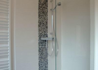 Dusche Festelement Wandbefestigung rechteckig